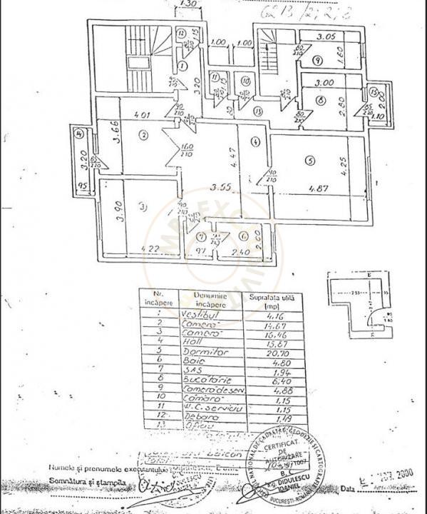 Apartament 3 camere pe strada  Icoanei 8