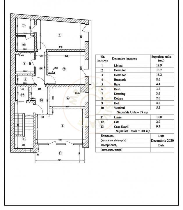 Apartament boutique, 3 cam, 101 mp, Floreasca 12
