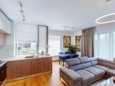 Apartament 3camere mobilat, terasa 80mp, cartier Aviatiei Park
