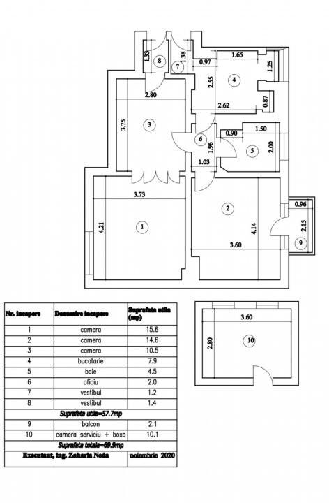 Apartament 3 camere Matei Basarab  6