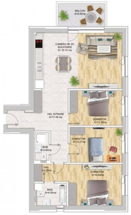 Apartament cu 4 camere decomandat in Nordul Capitalei - Luxuria Residence 18