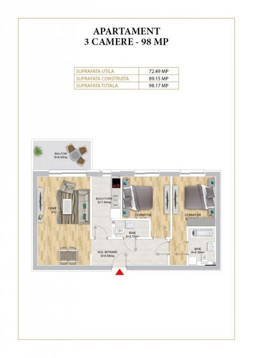 Apartament cu 3 camere decomandat in Nordul Capitalei - Luxuria Residence 24