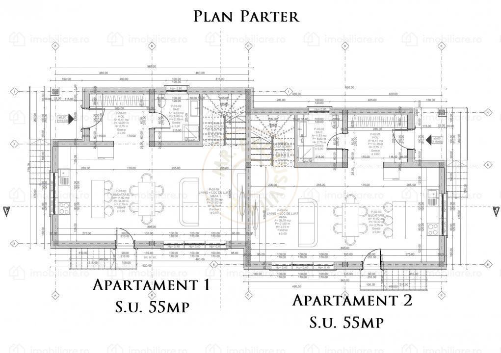 Duplex 4 camere, Dezmir,Cluj - Comision 0%    3