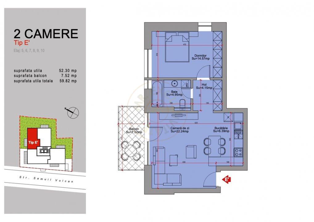 Ansamblu Rezidential 13 Septembrie 1,2 si 3 Camere/direct Dezvoltator 25