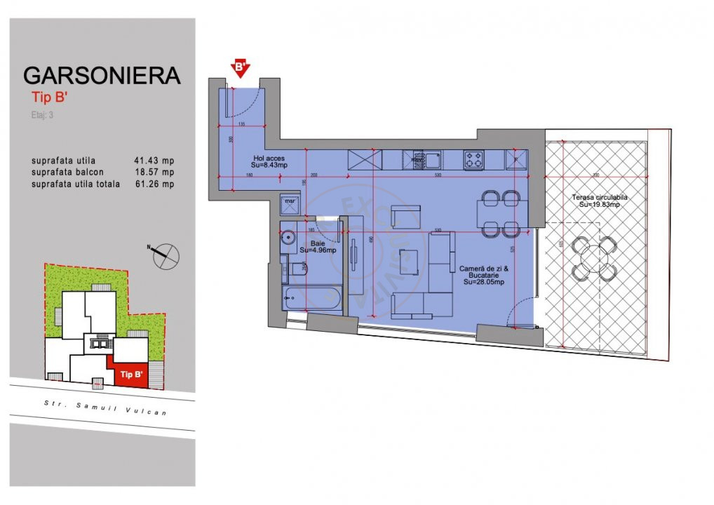 Ansamblu Rezidential  13 Septembrie 1,2 si 3 Camere/direct Dezvoltator 22