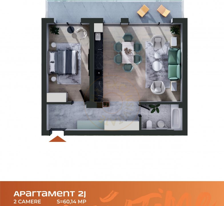 Apartament 2 camere Cluj Napoca Comision-0% 7