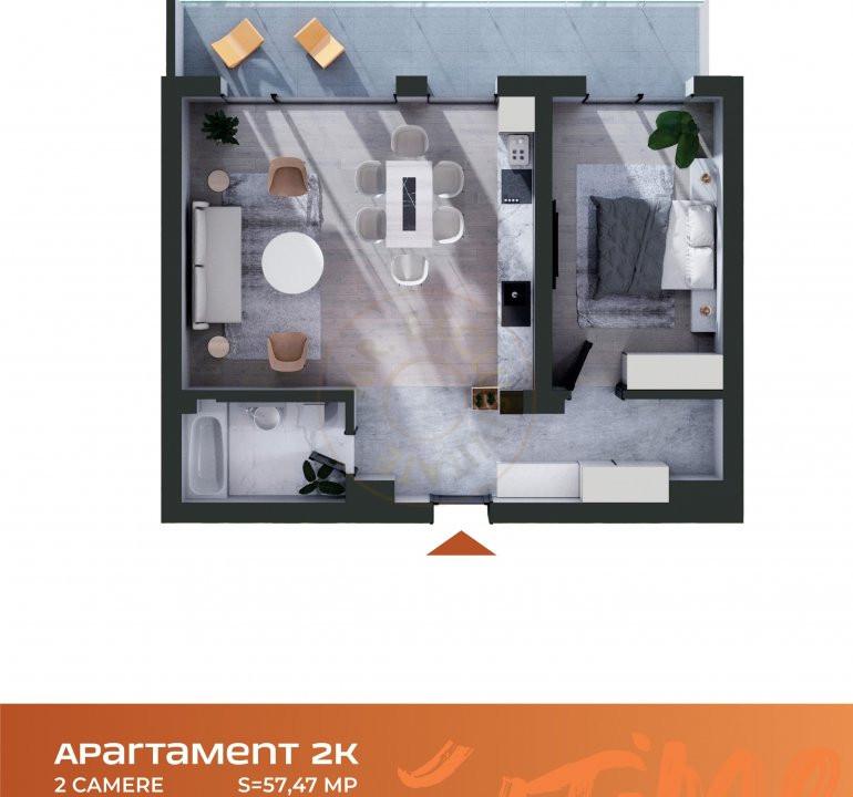 Apartament 2 camere Cluj Napoca Comision-0% 8